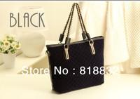 Free Shipping 2013 New Products Black Fleece Bags Winter Ladies Messengers Chain Women's Shoulder Handbag