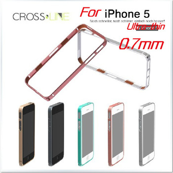 MOQ:1pcs, 0.7mm Ultra thin hight qualtily sp-5 Aluminum metal bumper case for iphone 5 5s,Free Shipping, A0212