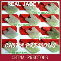 Free Shipping 2013  advanced wholesale natural jade scrapping plate /jade / guasha jade board /Thin face thin body /no imitation