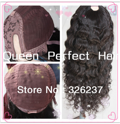 Freeshipping Deep Wavy Virgin Brazilian Human Hair U part wig100%high Quality #1#1b#2#4#6in stock(China (Mainland))
