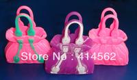 free shipping, doll accessories, printing doll handbag, lady bag, 200pcs/lot, USD68/LOT