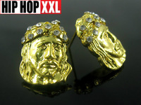 Jesus hiphop jesus  stud  earrings doodle  bling 2013 new reach