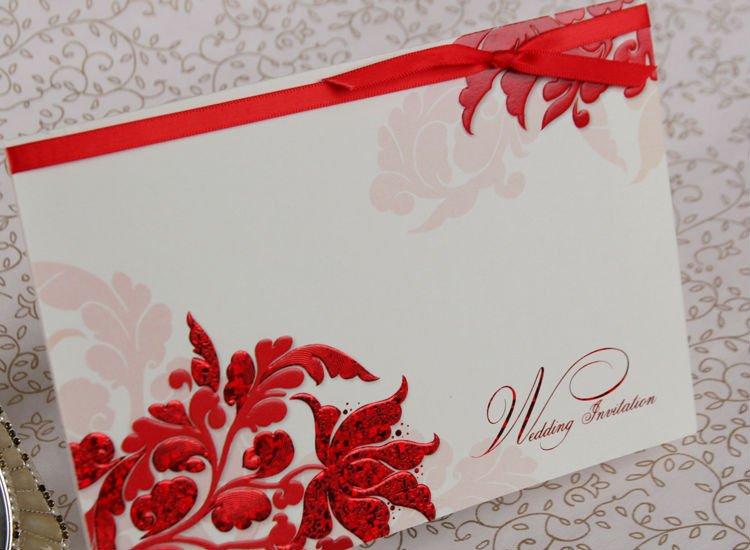 Free red rose wedding invitation templates Wedding celebration blog – Red and White Wedding Invitations