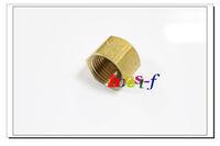"5 X New Brass 5/8"" OD Flare Cap , Brass Flare Tube Fitting"