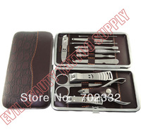 12 in 1 Nail Clipper Kit acrylic nail Care Set Utility Stainless Steel Manicure Set Tools Free Shipping
