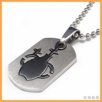 Free Shipping Fashion jewelry The Signs of the Zodiac Aquarius Pendant 316L Stainless Steel Necklaces Men Necklace 07688