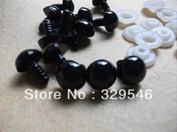 15 PAIRS 14mm Safety Black Eyes Toy Eyes for Crochet doll Amigurumi Teddy Bears