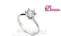 Free Shipping,Hotselling Flower Clear crystal platinum plated ring fashion jewelry High quality,not lose color,antiallergi.002
