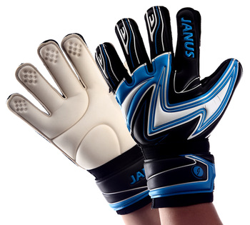 Keeper Glove Janus 2013 belt finger top professional football full latex goalkeeper gloves