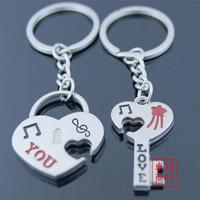 2013-hot sells Love rabbit lovers keychain key chain keychain