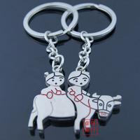 hot sell Love rabbit lovers keychain key chain keychain.WWW
