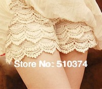 New Fashion knitting LG-007 Shorts women 2013 sweet lace short pants slim 2 Colors FREE SHIPPING 1PC/LOT