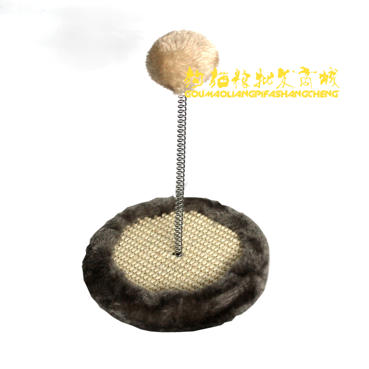 Pet toy cat scratch board cat climbing frame with spring pompon cat toy funny cat stick(China (Mainland))