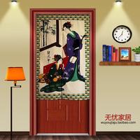 Free Shipping Gorgeous Japanese Geisha Noren Door Curtains Fabric D3044