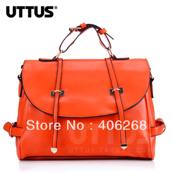 free shipping 2013 Uttus retro style high quality pu leather women' handbag  shoulder bag sling bag