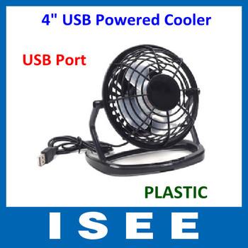 Christmas Big sale  Plastic Portable PC Notebook Laptop Black Mini Desk Table USB Powered Cooler Cooling Fan