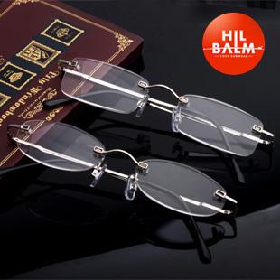 Hilbalm rimless reading glasses quality glasses aspherical gift