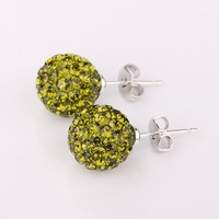 wholesale womens Shambhala Earrings mix Crystal Disco Ball Beads chic sham earring jewelry