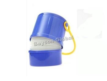 Free Shipping Car Blue Folding Umbrella Handle Holder Canister Portable @15204