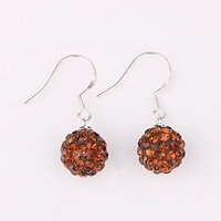 beautiful Shambhala earrings Crystal T-paris earring Disco Ball Beads 10MM bead fashion shamballa