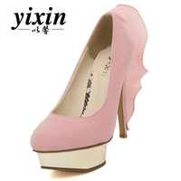 2013 spring princess high-heeled shoes platform thin heels velvet fish tail single shoes women's shoes