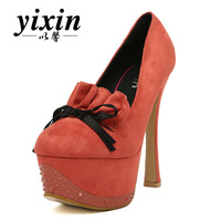 2013 spring ultra high heels 14cm velvet platform thin heels single shoes women's shoes