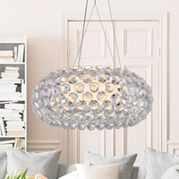 Modern Foscarini Caboche Jose Beads pendant lamps restaurant dining room drop light bed room coffee bar pendant lights D50cm