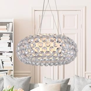 product Modern Foscarini Caboche Jose Beads pendant lamps restaurant light parlor bedroom pendant lighting D50cm High quality