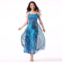 2014 summer bohemia romantic silk full dress one-piece dress beach dress