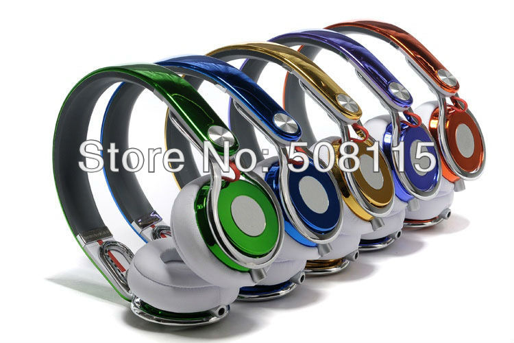 Electroplated Luxury Ultra-flexible Professional MIXR Headset free shipping high performance stereo Lightweight DJs studio(China (Mainland))