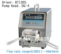 led digital display low flow Precise variable speed peristaltic pump for water pumps fluid BT100S /  DG10-4(10 rollers)