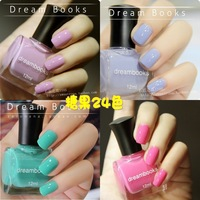 2 bottle dream books solventborne eco-friendly nail polish oil classic candy color 24