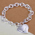 H279 Wholesale! Free Shipping Wholesale 925 silver bracelet, 925 silver fashion jewelry Dual heart bracelet