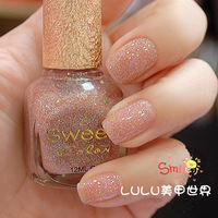 3 bottle sweet color eco-friendly nail polish oil colorful glitter nude color camel