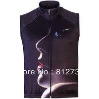 Hot Sale Men's Beauty Prints Gothic Punk Casual Fleece Bodywarmer Gilet Vest,Creative 3 D Vest ,Plus Size