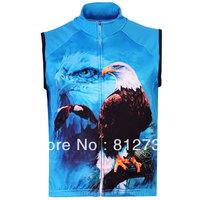 Free Shipping,Hot Sale Men's 3D Blue animal Eagle Printed Gothic Punk Casual Fleece Bodywarmer Gilet Vest, Vest S-5XL,Plus Size
