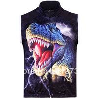 Free Shipping,Hot Sale Men's 3D animal Dinosaur Design Gothic Punk Casual Fleece Bodywarmer Gilet Vest,3 Vest S-5XL,Plus Size