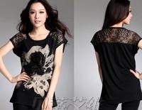 2013 New Korean printing casual short-sleeved T-shirt, free shipping