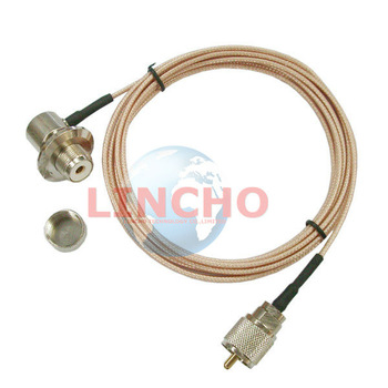 3M RG316 Coaxial Cable for Mobile Radio Antenna Extension, PL259 UHF-Male and SO239 connector for ICOM KENWOOD Radio