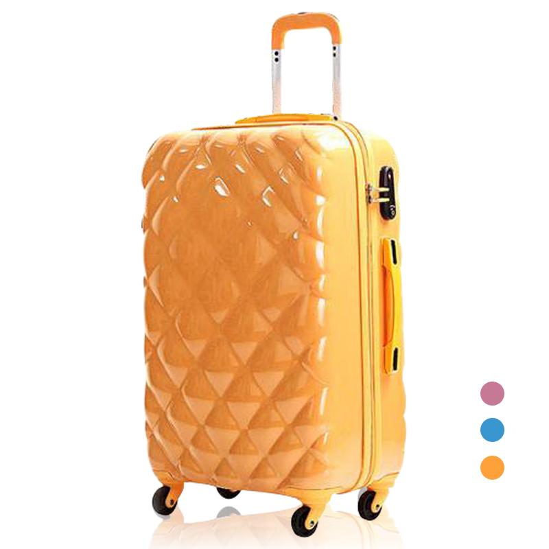 Fashion plaid abs trolley luggage pc luggage travel bag luggage bag universal wheels box set trolley luggage(China (Mainland))