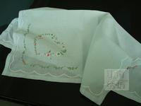 Big measurement 100% women's cotton handkerchief heart wreath handmade