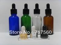 12x30ML-1 OZ Amber/Blue/Green Glass Eye Dropper Bottles/Vials Enssential Oil Bottles/Sensitive Chemical Storaging NEW & EMPTY