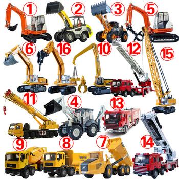 Alloy engineering car excavator crane fire truck mixer road roller dump-car toy