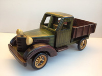 Free shipping Handmade wool  jalopy truck model gift retro Colletion Ornaments