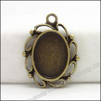 60pcs Vintage Charms Photo Frame Pendant Antique bronze Zinc Alloy Fit Bracelet Necklace DIY Metal Jewelry Findings