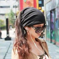 Wholesale Multi-use Unisex Oversized Beanies Loop Scarves Men Slouch Beanie Ring Scarf Womens Slouchy Skullcap Women Baggy Caps