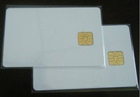 Free shipping 20pcs/lot, white PVC card with SEL 4428 chip contact IC card , contact smart card