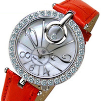 Royal crown strap vintage rhinestone sheet ladies watch 3850