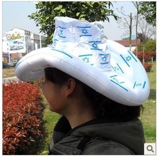 free shipping 5pcs/lot fashion Inflatable cowboy Simulation hat toy,children toys(China (Mainland))