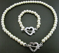 wholesale fashion beads necklace bracelet 925 Silver 18inches 8inches